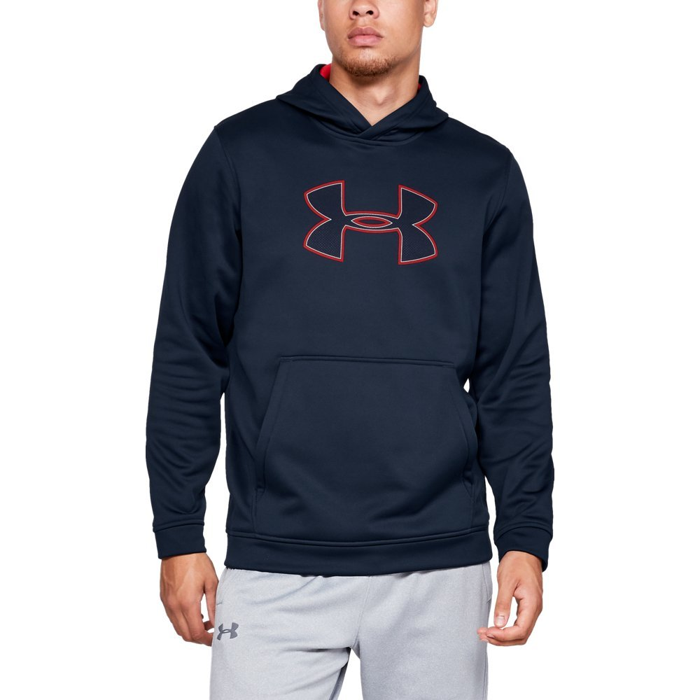Under Armour Men's Performance Fleece Graphic Hoodie, Academy (408)/Red, Small
