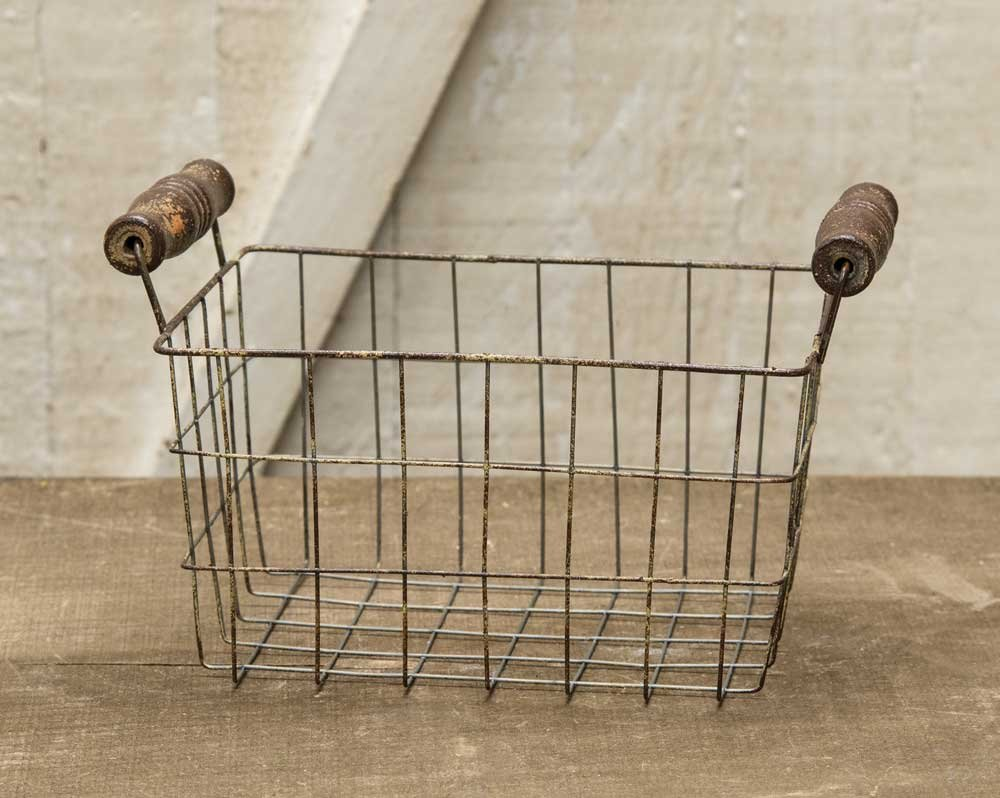 CWI Gifts Medium Rusty Wire Rectangle Basket