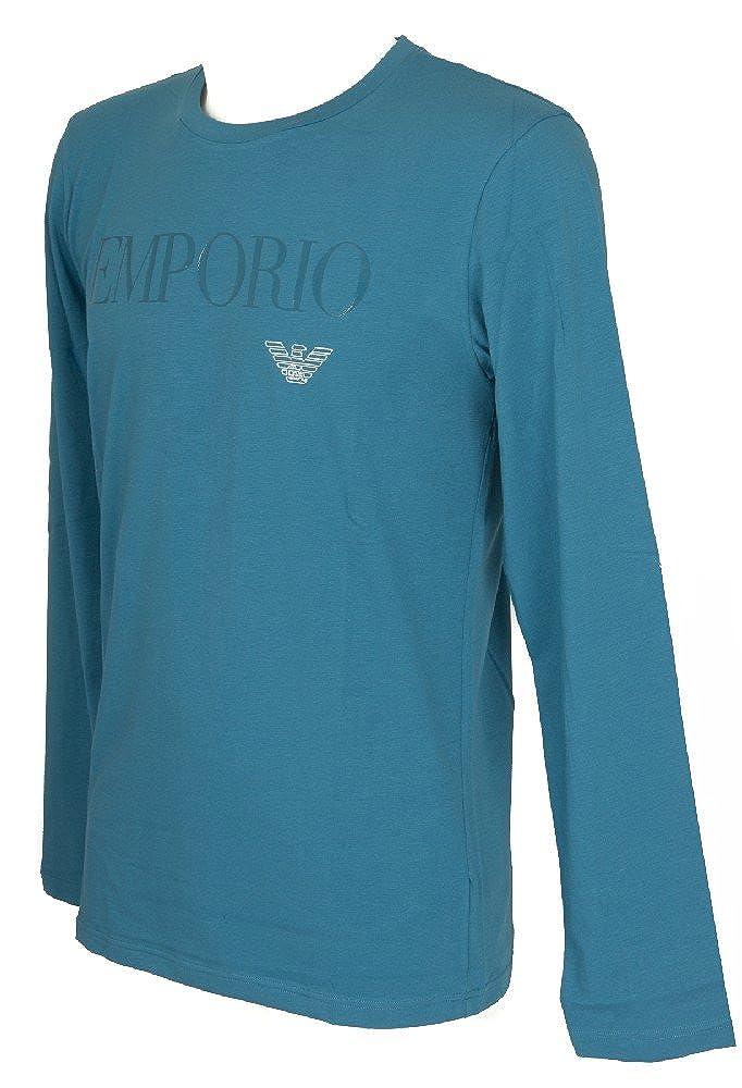 Emporio Armani Mens Standard Megalogo L/s Crew T-Shirt