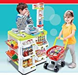 Delex Children Role Play Supermarket Shop Toy Set With Scanner Cashier Till Set with Lights Sounds & Food Game Activity Educational Creative Fun Special Unique Development Latest Newest Learning Preschool Great Christmas XMAS Gift Present New