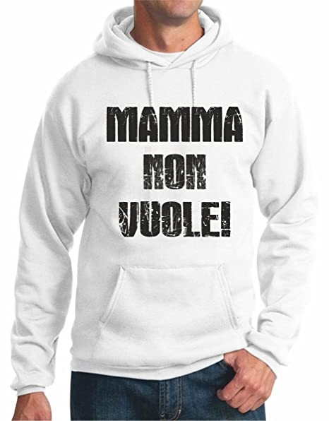 Sudadera con Capucha Frases Humor Madre No vuole. – S M L XL XXL Camiseta by tshirteria