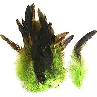 Lot 50 Plumes de Coq Anciennes Naturelles pour Bijoux Sac DIY 12-18cm