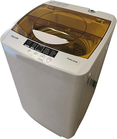 Lavadora portátil Panda, capacidad de 10 libras, 10 programas de ...