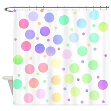 Amazon.com: CafePress - Pastel polka dots Shower Curtain ...
