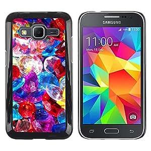 Be Good Phone Accessory // Dura Cáscara cubierta Protectora Caso Carcasa Funda de Protección para Samsung Galaxy Core Prime SM-G360 // Precious Stones Pile Jewelry Colorful Glass