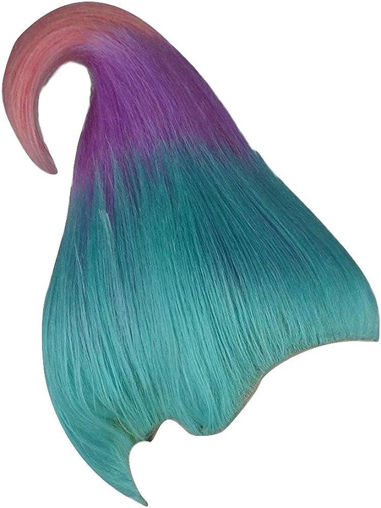 Amazon Com Alicia International Inc Women S Troll Wig Blue Lavender Pink Clothing