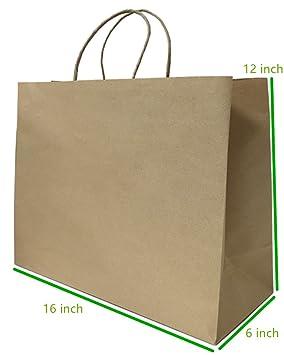 metrogalaxy Premium papel Kraft bolsa de papel 16