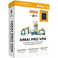 AVG HMA! PRO VPN & Internet Security 2017 Unlimited Devices/1 Year Bundle (KEY CARD IN BOX. NO CD)