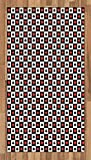 Lunarable Poker Area Rug, Illustration of Poker Card Suits in Checkered Squares Spades Hearts and Clubs, Flat Woven Accent Rug for Living Room Bedroom Dining Room, 2.6 x 5 FT, Red Black White