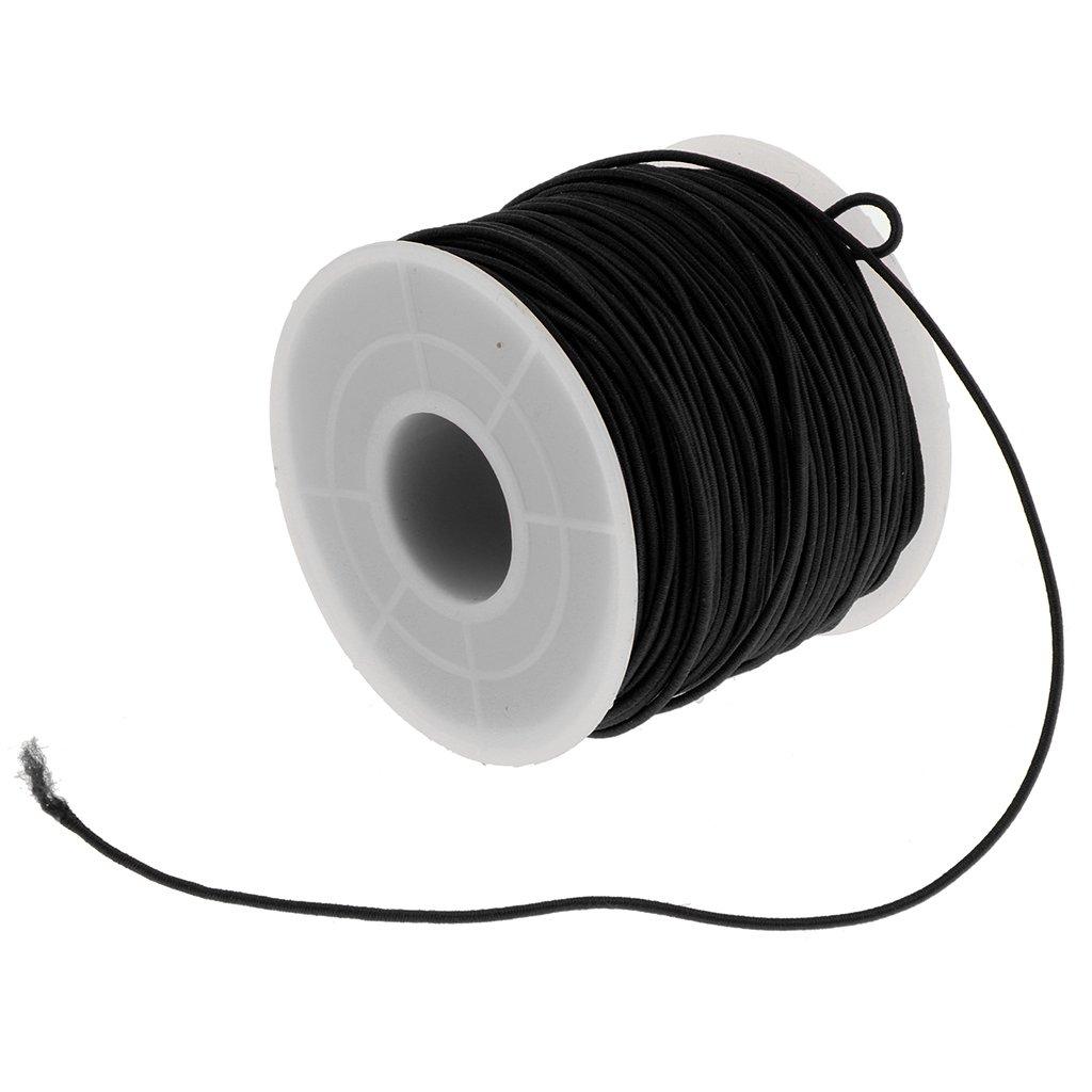 Baoblaze Stretch Elastic Cord Wire Rope Bracelet Jewelry Making String Black 0.8mm 4336810774