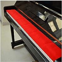 WGD Qin Cubierta De Teclado De Piano Rojo De 125 Cm × 15 Cm, Protector A Prueba De Suciedad De Piano A Prueba De Polvo…