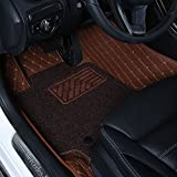 Pegasuss All-weather Full Surrounded Double Layers Floor Mats for Lexus ES 200 250 300 350 2013-2016- Brown