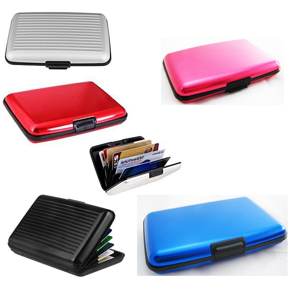 newest cc6f7 57d6b RFID Blocking Hard Case Holder Business Card Credit Wallet ID Aluminum  Theft New