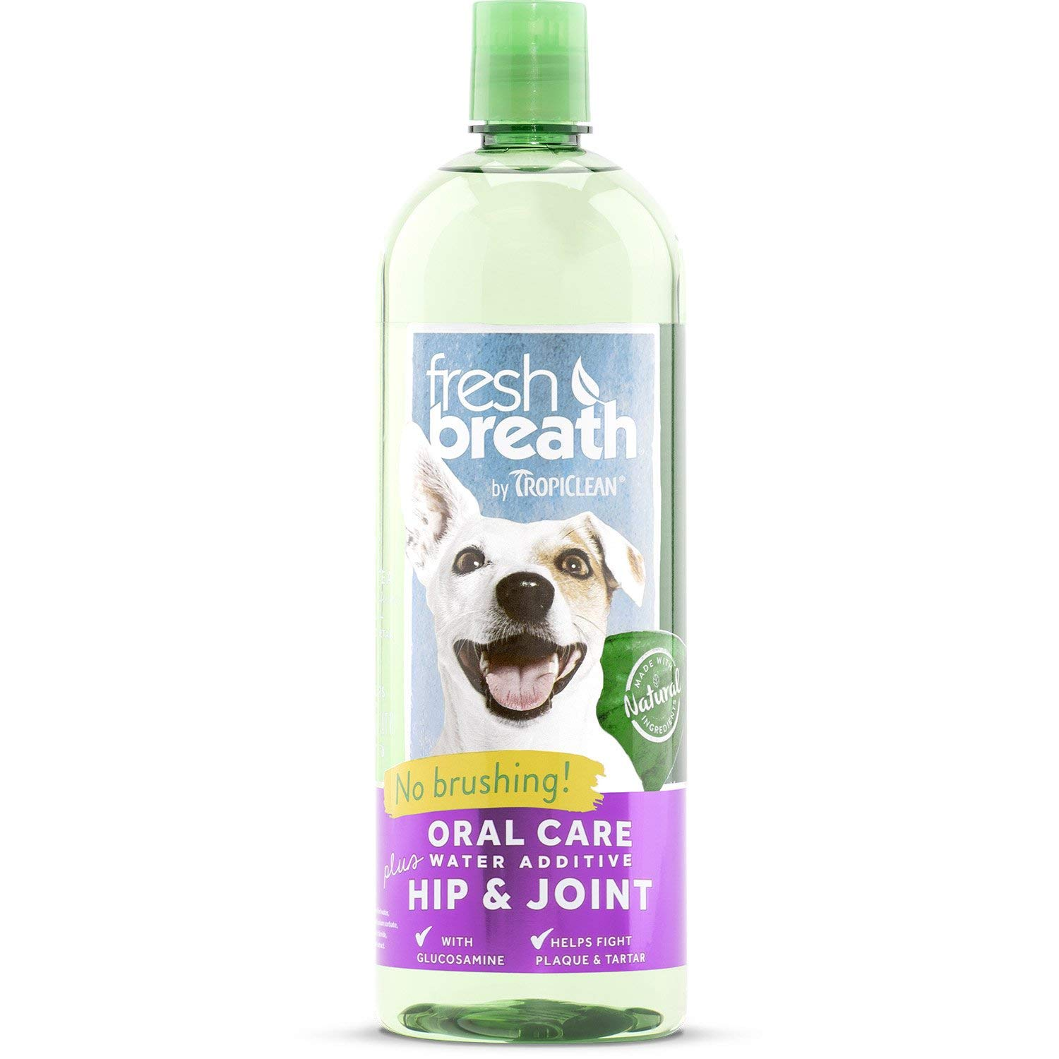 TropiClean Fresh Breath Plus Hip & Joint Oral Care Water Additive for Pets by Tropiclean