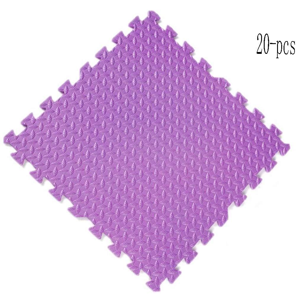 tiendas minoristas púrpura púrpura púrpura WHAIYAO Tappeto Puzzle Puzzles De Suelo Colchoneta De Escalada Infantil Costura Sin Costuras Impermeable Antideslizante Projoeger El Suelo, 7 Colors (Color   amarillo, Talla   36-pcs) 20-pcs  barato y de alta calidad