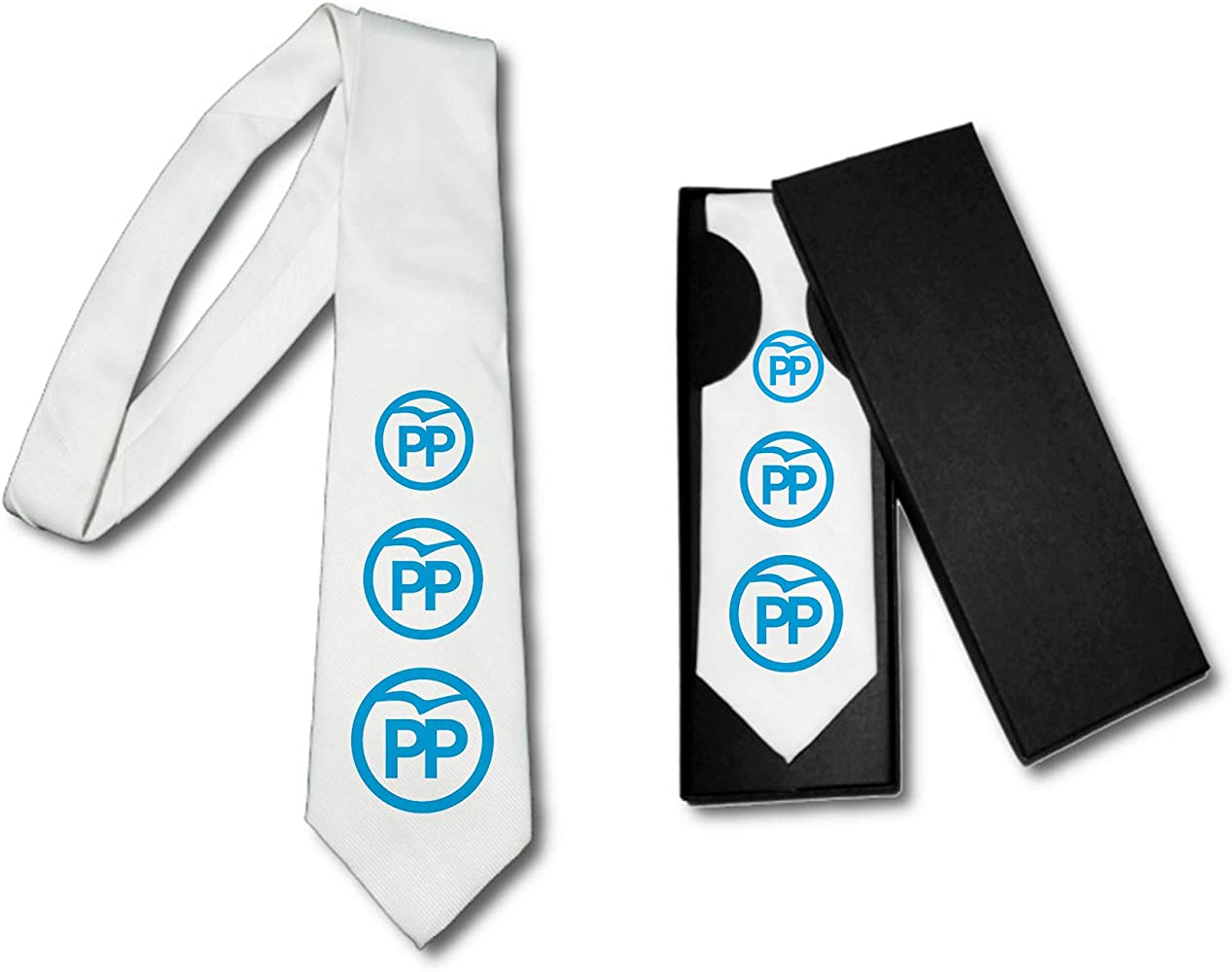 MERCHANDMANIA Corbata Elegante Logo Partido Popular Suave ...