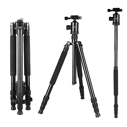 foxin F560 profesional portátil trípode para cámara monopié de ...
