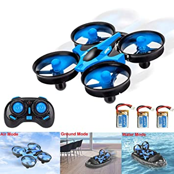 3T6B 3 en 1 RC Drone para Niños, Mini Hovercraft, Cuadricóptero de ...