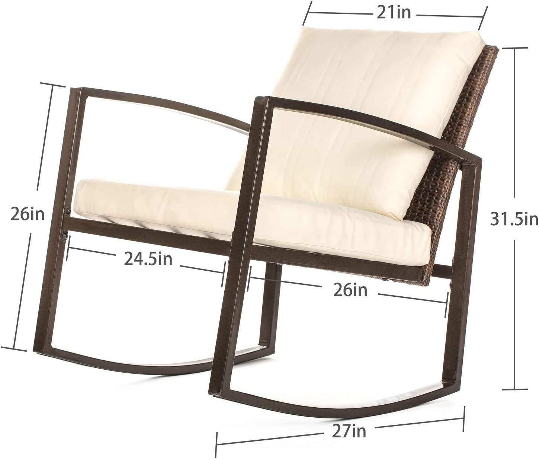 W HOME Rocker 3 PCs Furniture Set, Brown: Furniture & Decor
