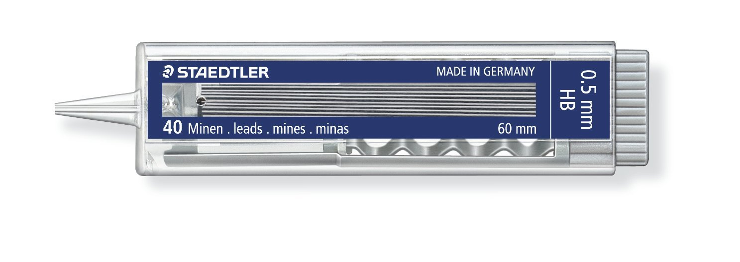 Staedtler Mechanical Pencil Leads HB 0.5 mm Pack of 10 Cases Each Containing 40 Leads by STAEDTLER