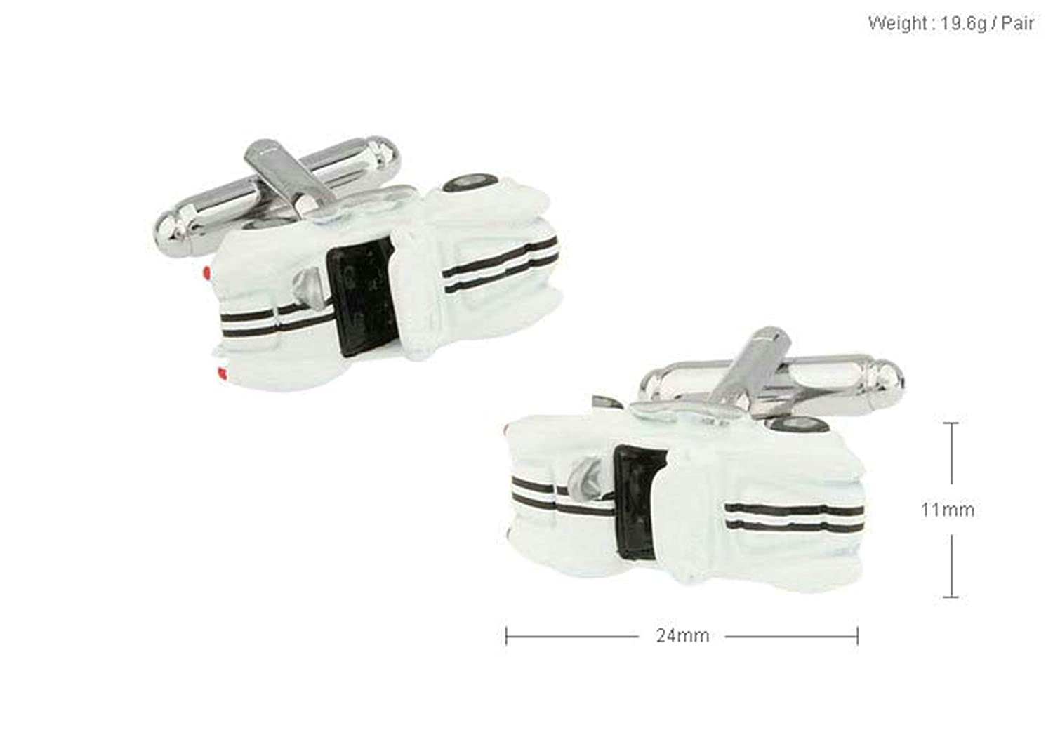EoCot Men Cuff Links Brass White Car Business Suit Cuffs Sleeve Button