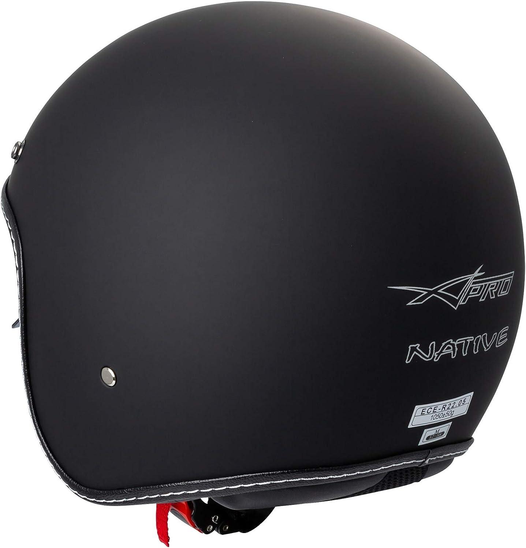 Jet Helmet Cafe Racer Open Face Motorcycle SunVisor Custom Scooter White M