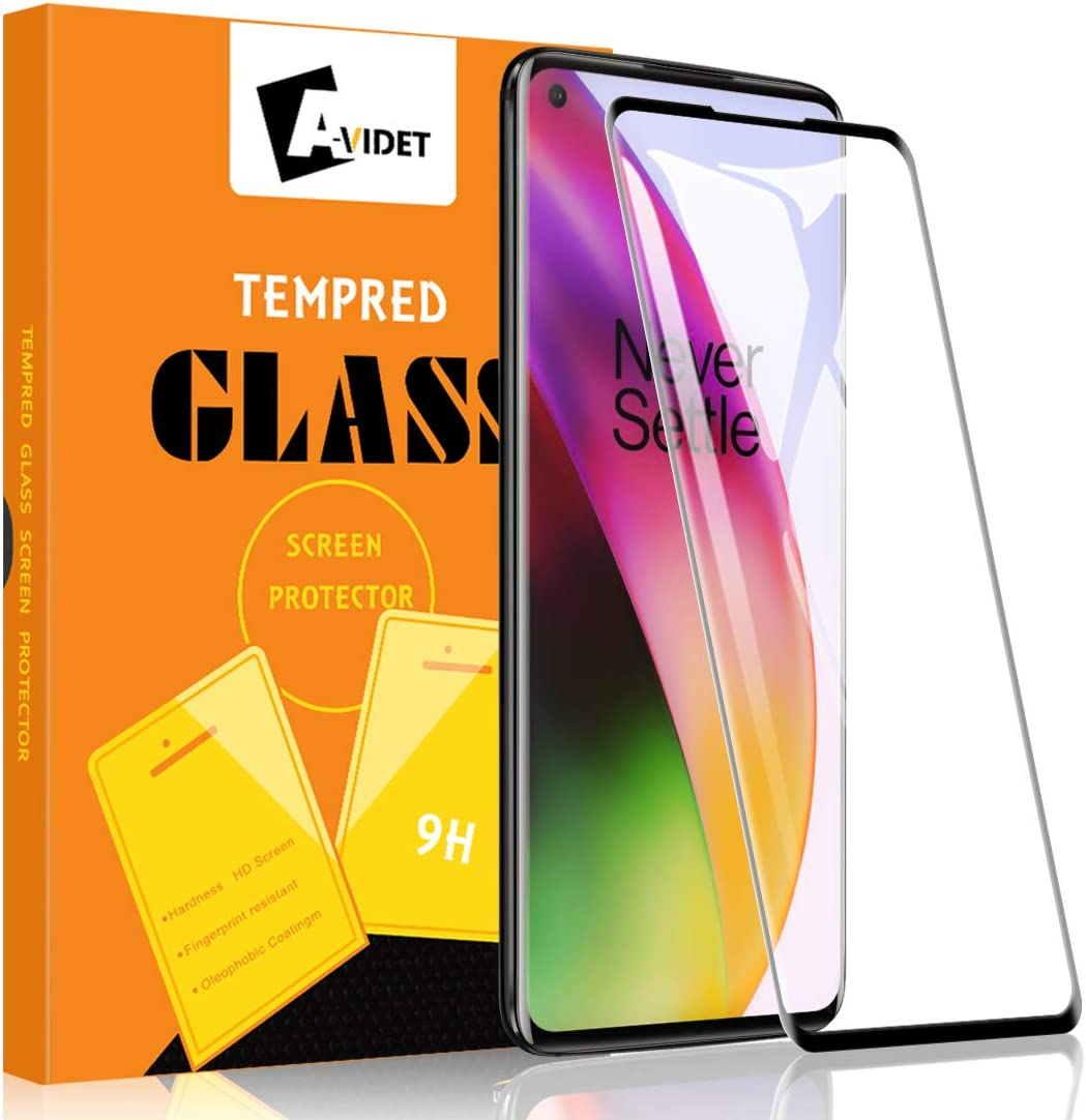 Amazon Com Avidet For Oneplus 8 Screen Protector Oneplus 8 Tempered Glass Anti Scratch Case Friendly 9h Hardness 3d Full Coverage Compatible For Oneplus 8 Black