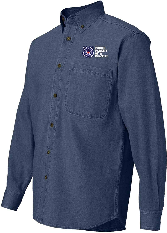 Coast Guard Denim Shirt Proud Parent of a Coastie U.S