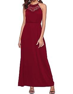 ad8d829251c3 Sweetnight Womens Halter Neck Casual Maxi Dresses Summer Spaghetti Strap  Beach Tank Dresses
