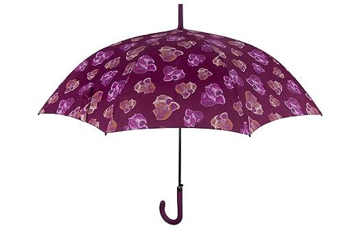 Basile Paraguas mujer largo abertura automatica fantasía violeta púrpura Q132