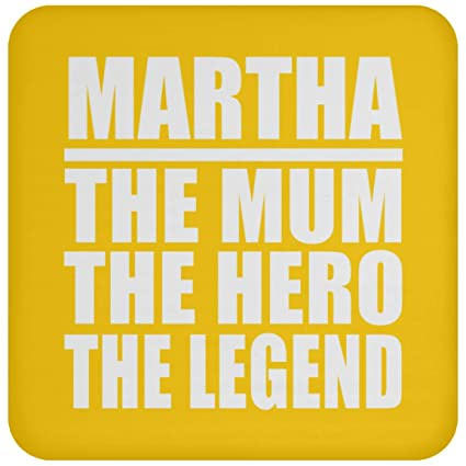 martha the mum the hero the legend drink coaster athletic goldone size