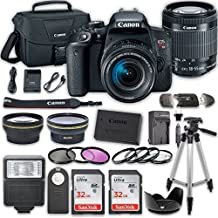 Canon EOS Rebel t7i cámara réflex digital Bundle con Canon EF-S 18 – 55 mm f/4 – 5.6 IS STM Lens + 2PC SanDisk 32 GB tarjetas de memoria + kit de accesorios