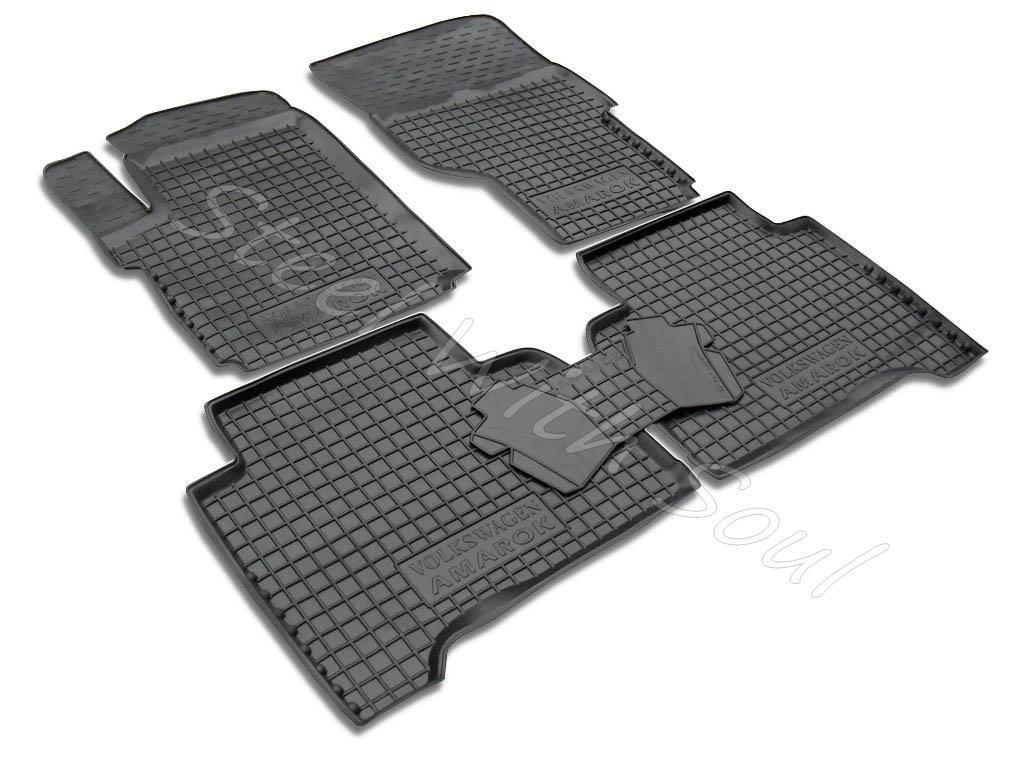Fully Tailored Rubber / Set of 5 Car Floor Mats Carpet for VOLKSWAGEN AMAROK 2011—2018