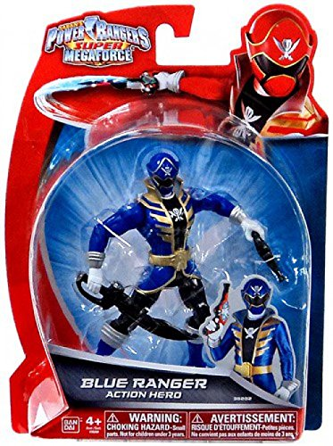 Power Rangers Super Megaforce - Blue Ranger Action Hero, 5-Inch