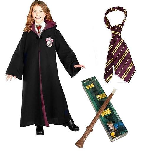 36fedff07e Harry Potter Child Costume With Gryffindor Robe Harry Potter Wand U0026 Tie  - Medium Sc 1 St Amazon.com