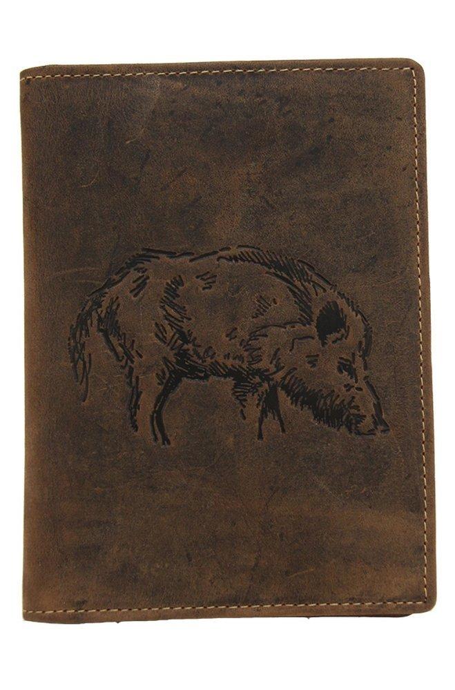 Caza faros funda ciervo o Figura de jabalí, con 6compartimentos Jagdschein Keiler AKAH