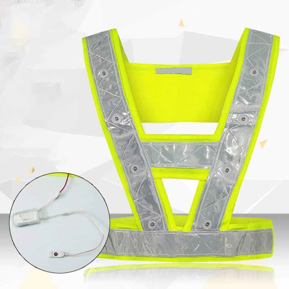 Chaleco Reflectante con 16 Luces LED para Uso en Exteriores Xuba