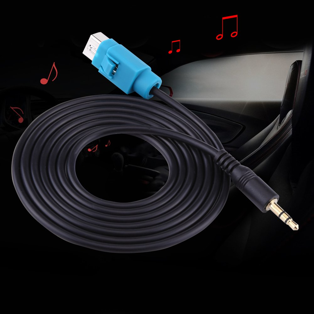 Car Music Auxiliary Interface Cable Connector Aux-in Audio Cable Adapter for Alpine CDA CDE IVA VGEBY 5558976087 Aux Input Cable