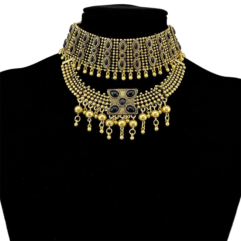 Tribal Tassel Pendant Statement Necklace Image 1