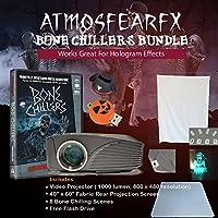 Atmosfearfx Bone Chillers DVD,1900 Lumen Video Projector Bundle