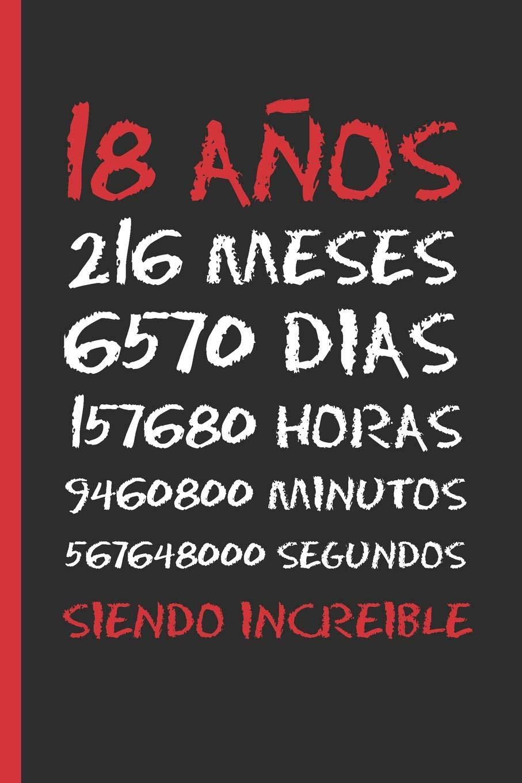 Amazon.com: 18 AÑOS SIENDO INCREIBLE: REGALO DE CUMPLEAÑOS ...