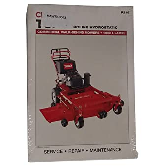 Amazon.com: Servicio Manual Clymer P210 Toro Proline ...