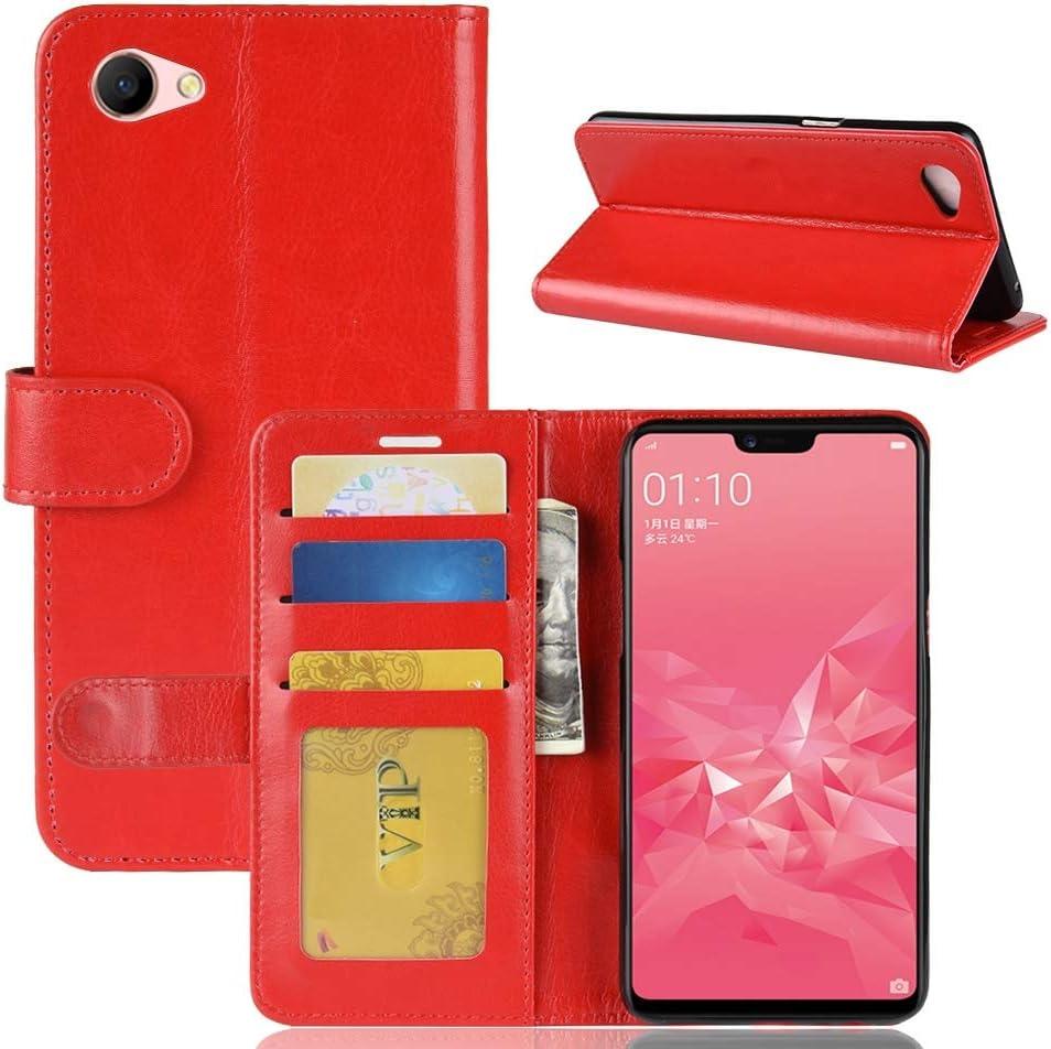 JUNXI Phone Textura Loca Caballo Horizontal Flip Funda de Cuero ...