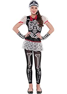 Amazon.com: Tween Girl s Sassy skelegirl disfraz esqueleto ...