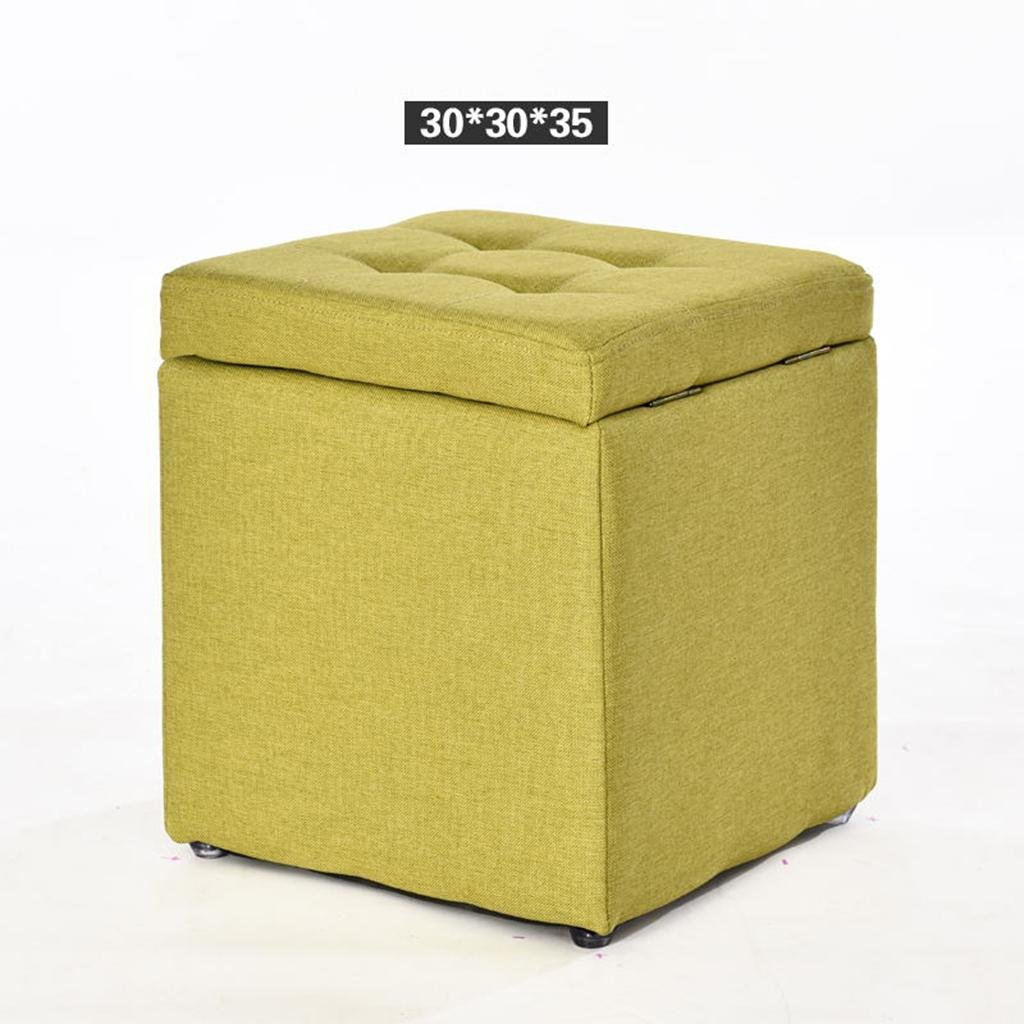 HETAO Creative Wood Fabric changing shoes stool Storage Stool Stool Sofa Stool Tea Table Stool Square Stool Household Living room, a4