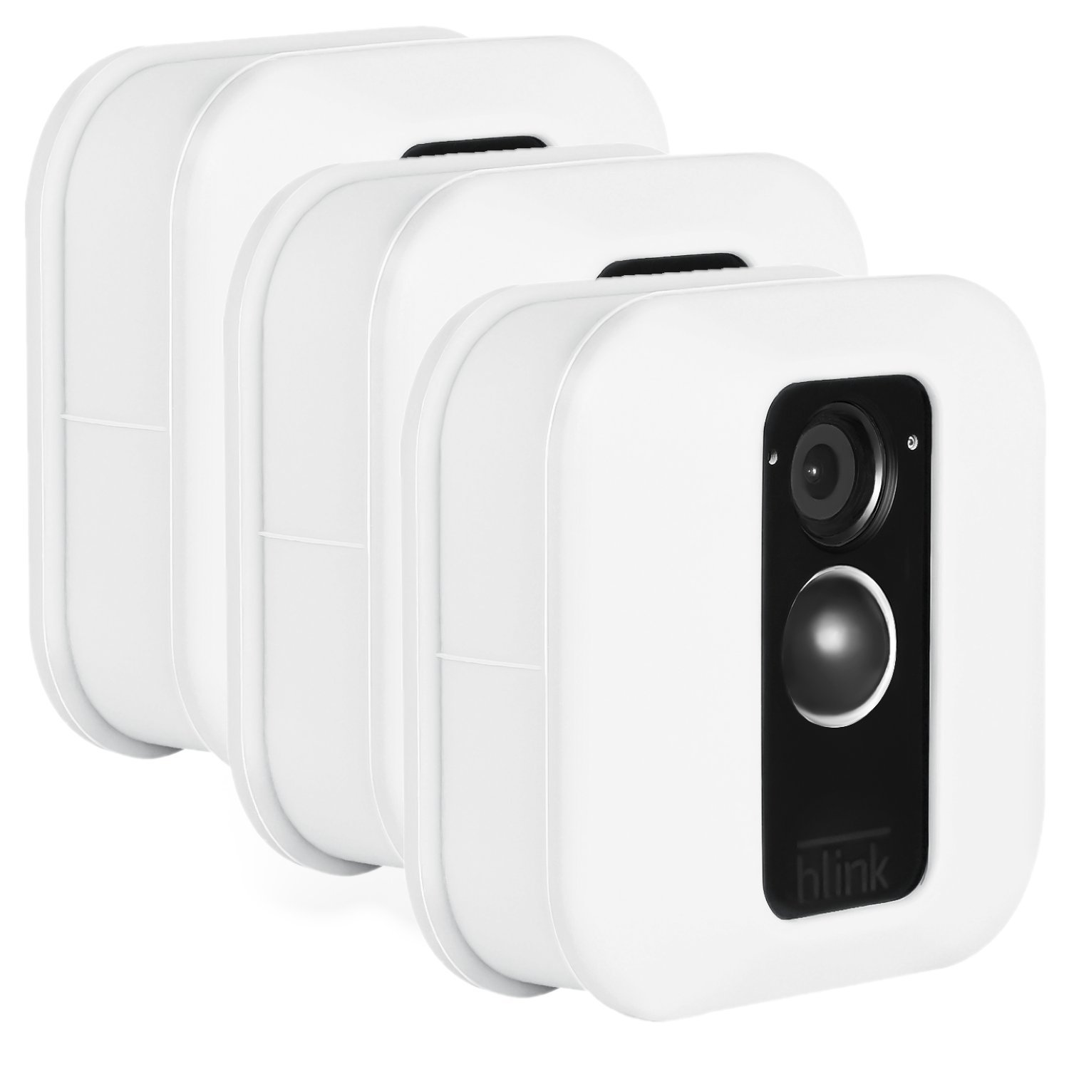 Blink XT Outdoor Camera Silicone Skin - Colorful Silicone Skin to Help Camouflage and Accessorize Your Home Security Camera - by Wasserstein (3 Pack, White) by Wasserstein