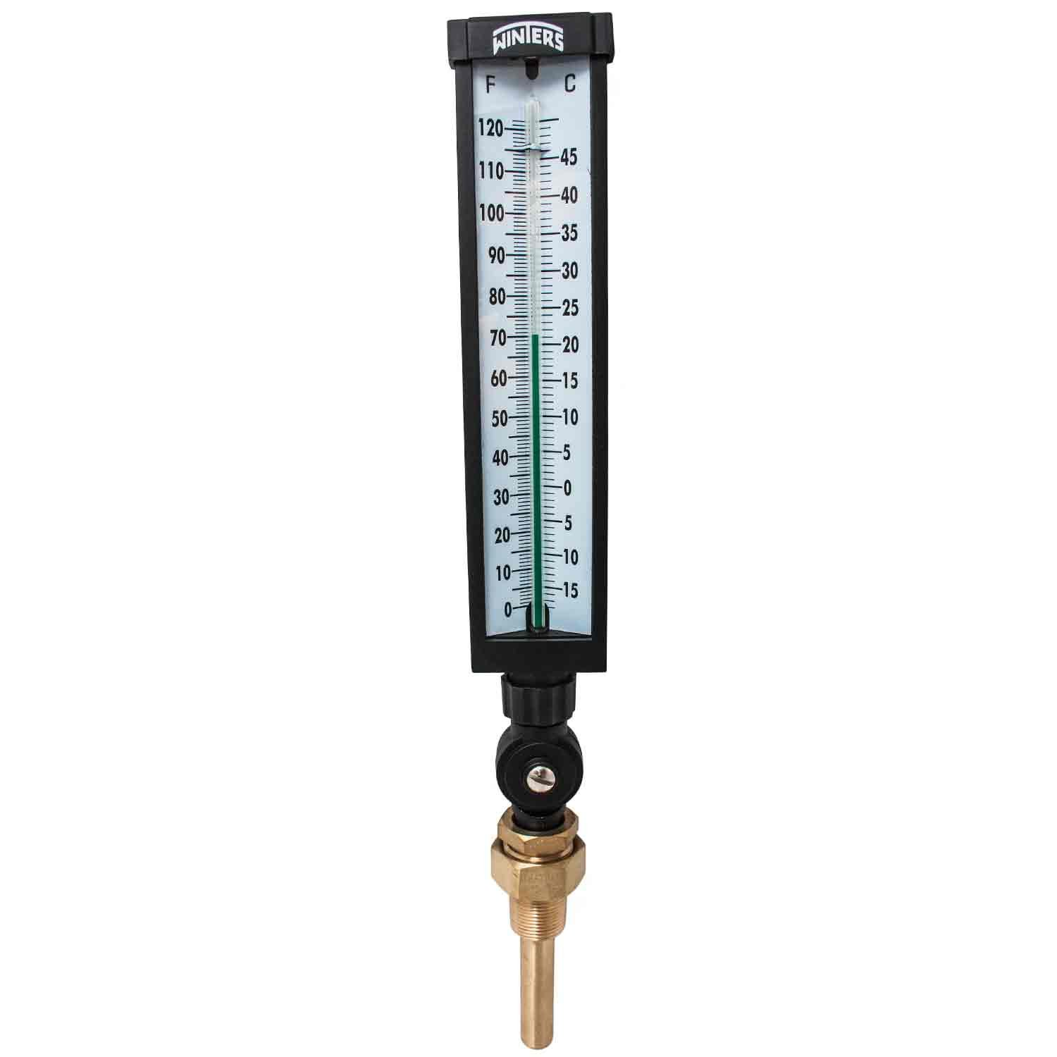Winters TIM102ALF Lead free Well Thermometer, 3/4'' NPT, 0 to 120 degrees F, Â1% accuracy, Graphite Filled