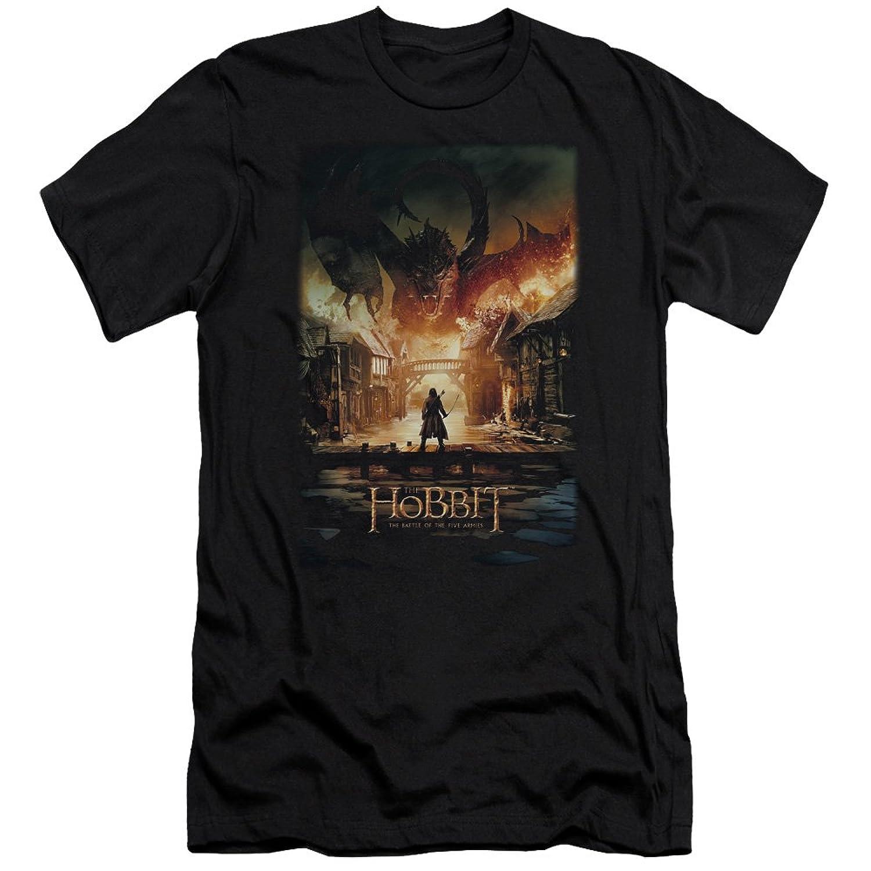 Hobbit - Mens Smaug Poster Slim Fit T-Shirt