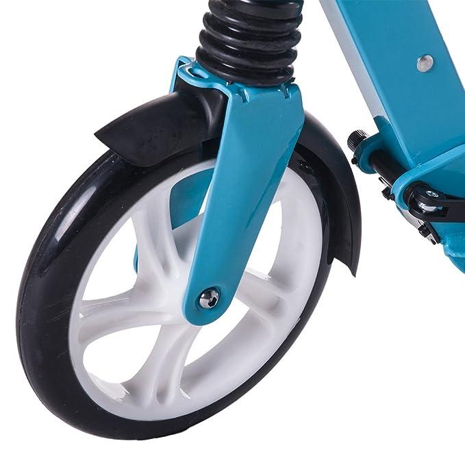 Rocket Bunny® Urban Scooter Adulto Ciudad Suspensión Push Marco plegable patinete grandes ruedas de 200 mm Azul azul: Amazon.es: Deportes y aire libre