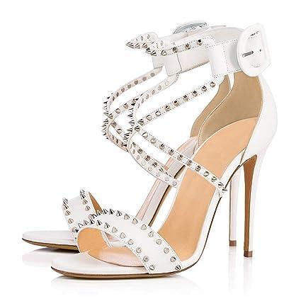 10fd0bf545570 Amazon.com: FCXBQ Studded Sandals, Stiletto Sandals Open Toe Sandals ...